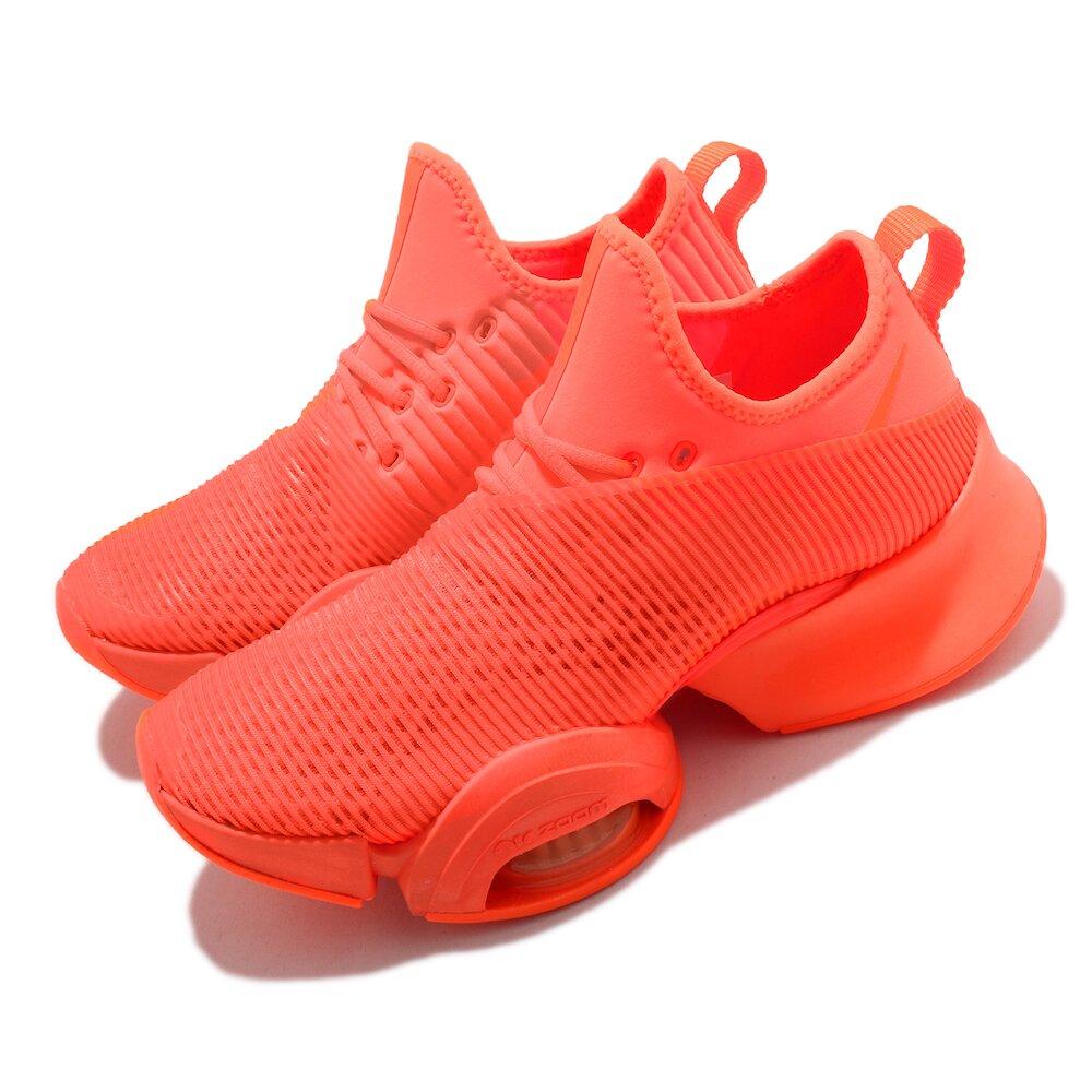 NIKE 訓練鞋 Zoom SuperRep 運動 女鞋 襪套 氣墊 舒適 避震 路跑 健身房 橘 [BQ7043-888]