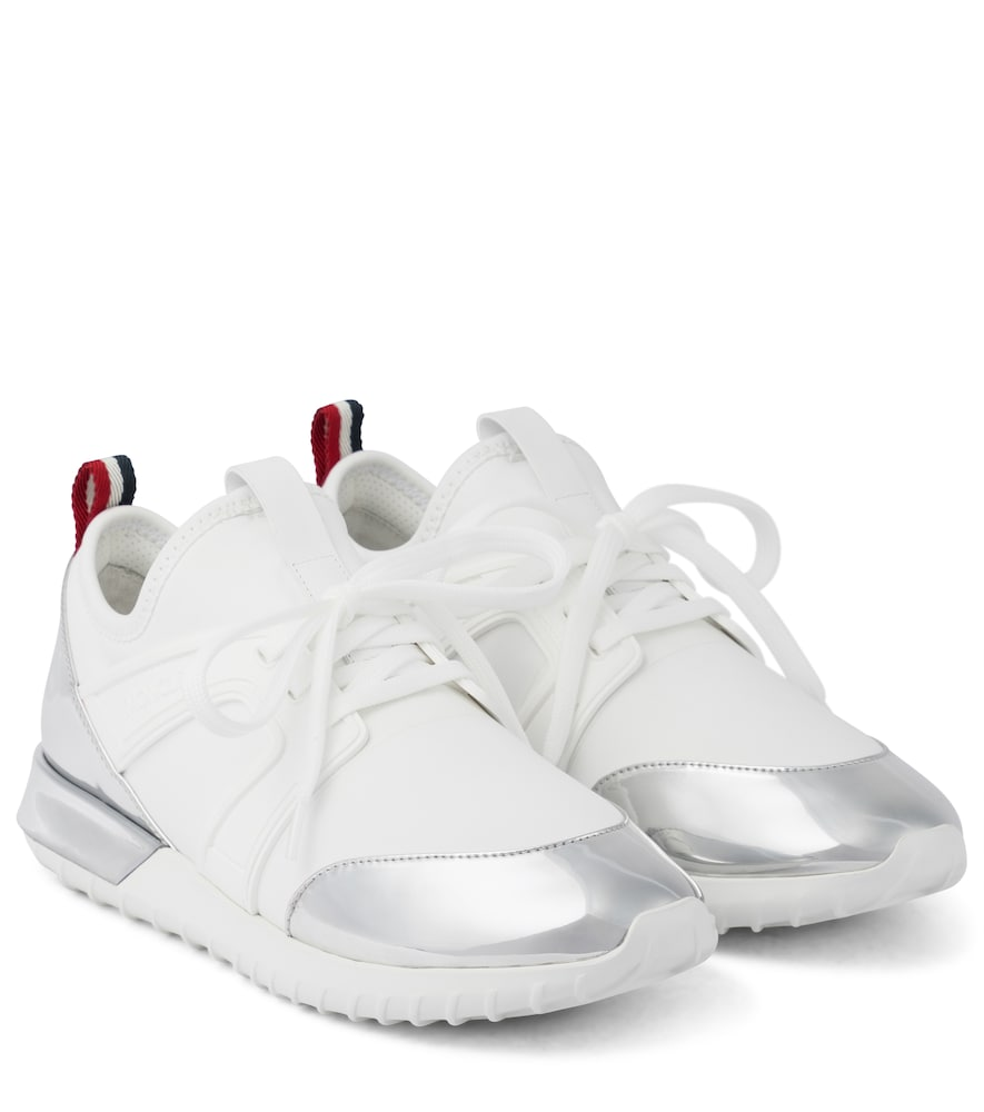 Meline leather-trimmed sneakers