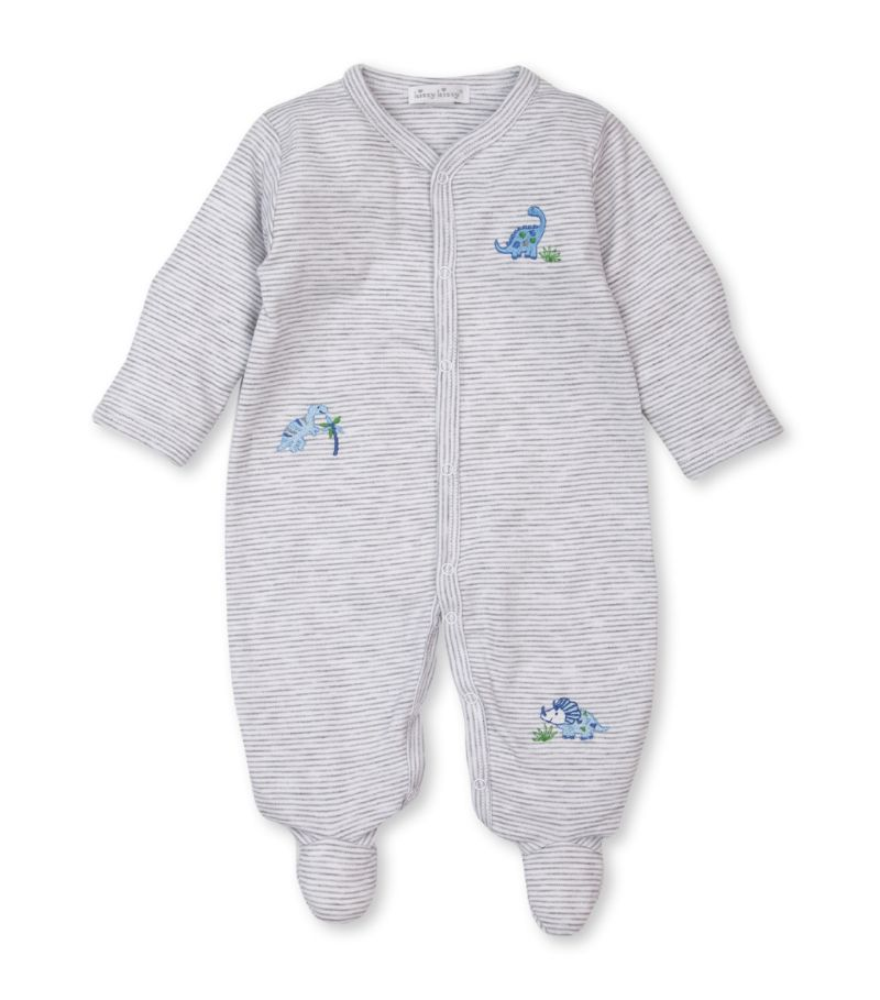 Kissy Kissy Cotton Dinosaur-Embroidered All-In-One (0-9 Months)
