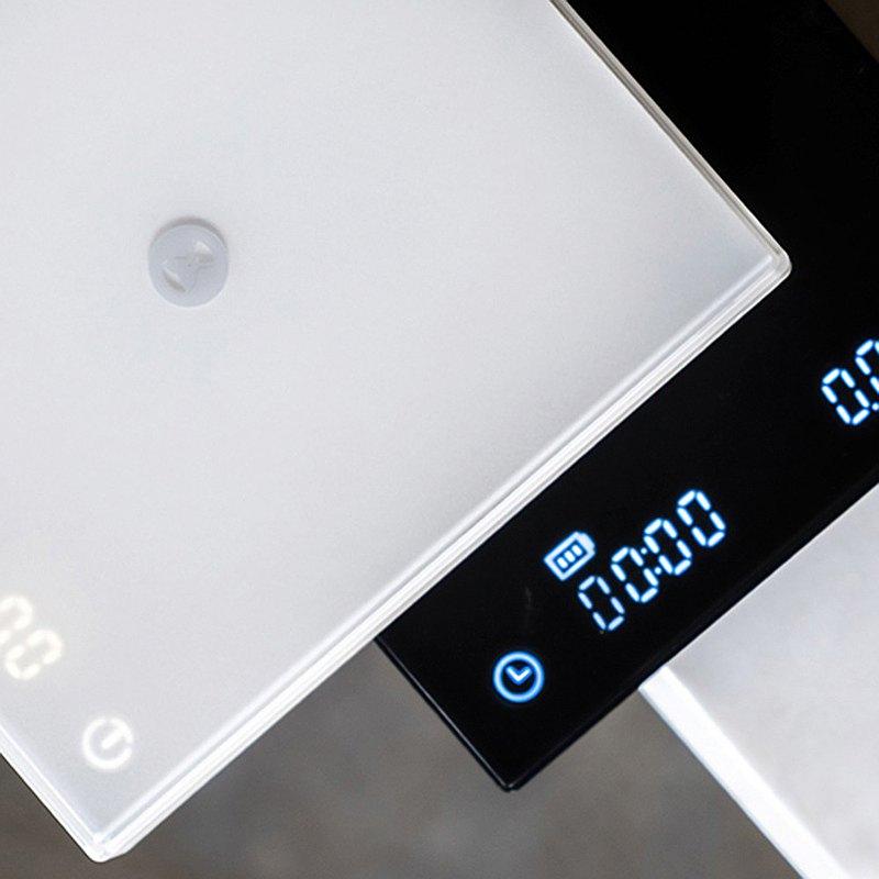 TIMEMORE 泰摩 黑鏡LED觸控秤重計時電子秤-新版白色
