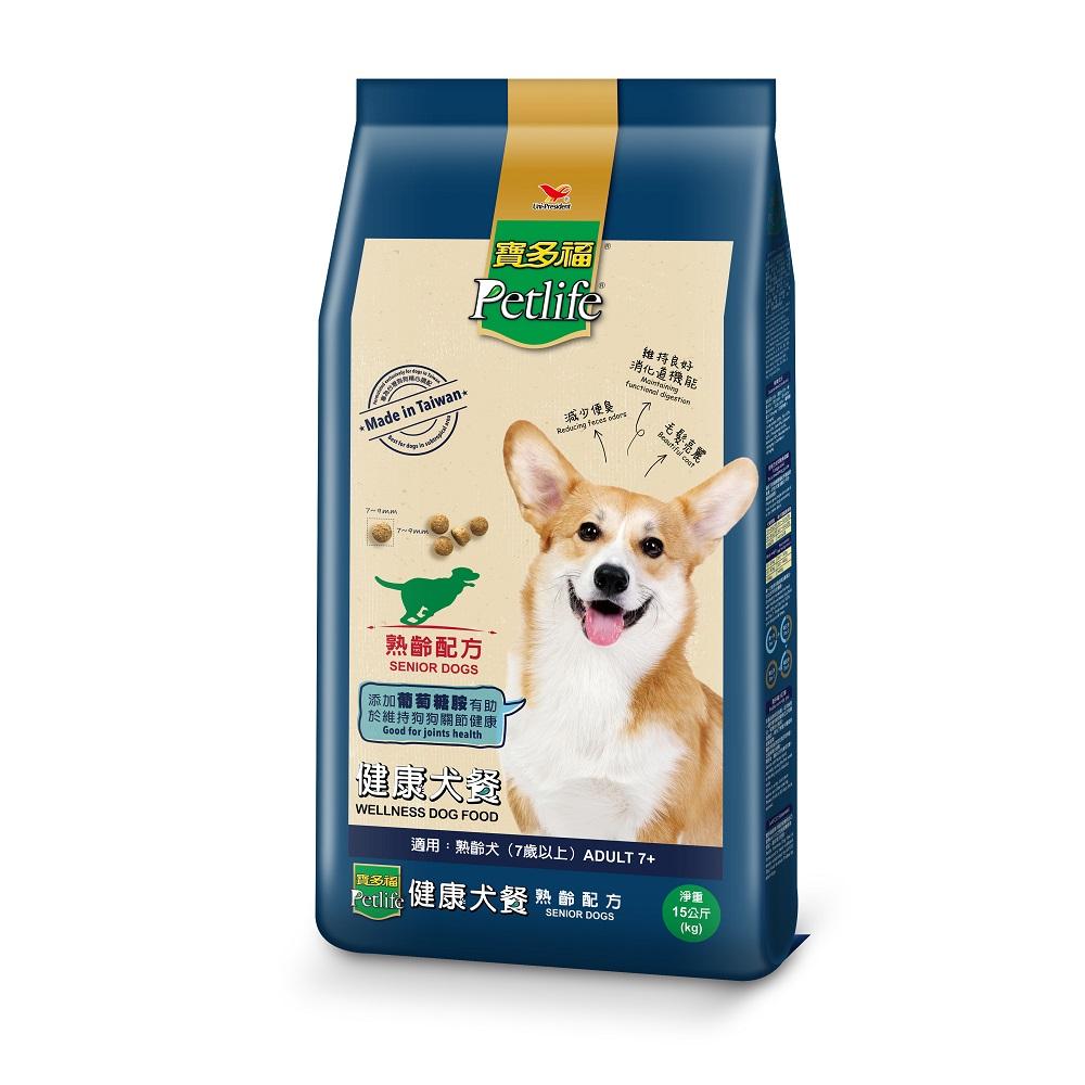 【寶多福】健康犬餐熟齡配方15kg【康是美】