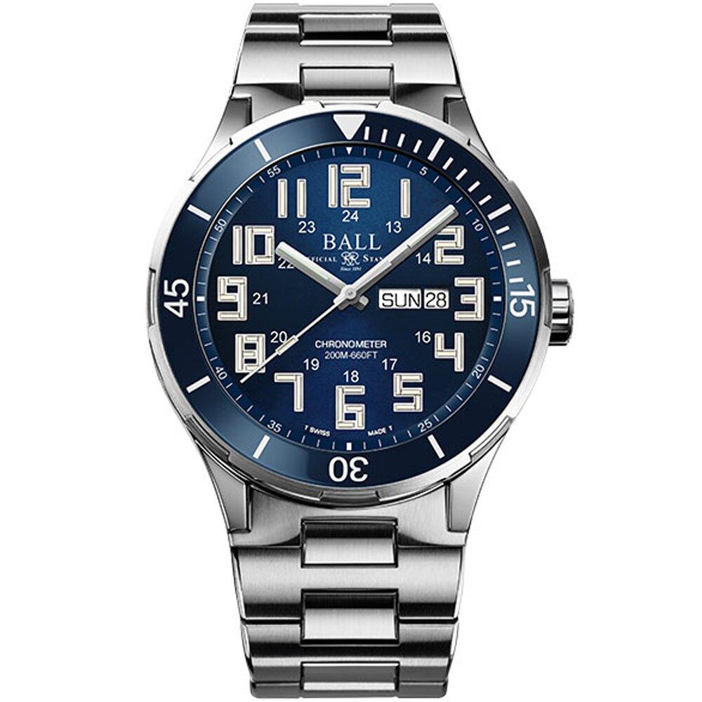 BALL 波爾 Roadmaster StarLight Ceramic機械腕錶 DM3050B-S11C-BE-43mm