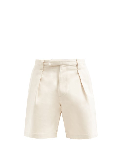 E. Tautz - Wide-leg Denim Shorts - Mens - Cream