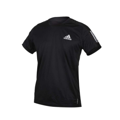 ADIDAS 男短袖T恤-亞規 吸濕排汗 運動 慢跑 路跑 上衣 反光 愛迪達 FS9799 黑銀