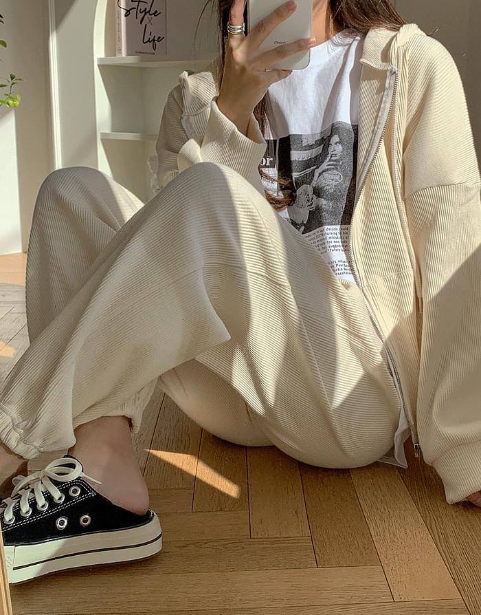 韓國空運 - Bella Ribbed jogger pants 長褲