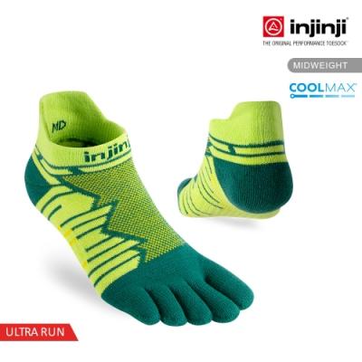 【INJINJI】Ultra Run終極系列五趾隱形襪 [螢光綠]
