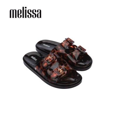 Melissa WIDE 寬帶素面拖鞋-琥珀