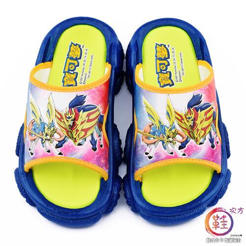鞋子部落 劍盾 男童拖鞋 戶外拖鞋 神奇寶貝(寶可夢) pa1794-藍