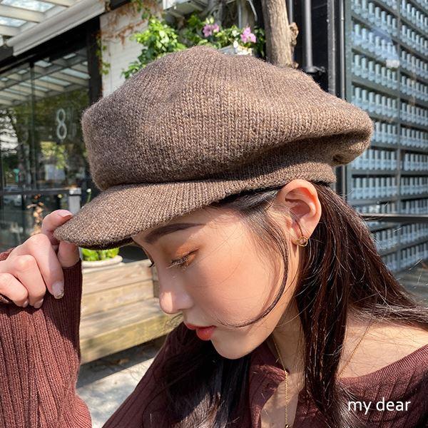MD韓出清-毛線針織報童帽-5色【09190071】