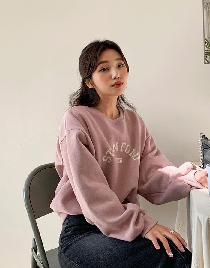 韓國空運 - Stanford Woolen Sweatshirt 長袖上衣