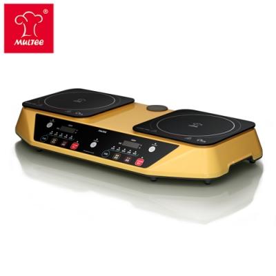 【MIT推薦】MULTEE摩堤 雙爐Performa Duo IH智慧電磁爐-星光黃(雙享爐.雙口爐)
