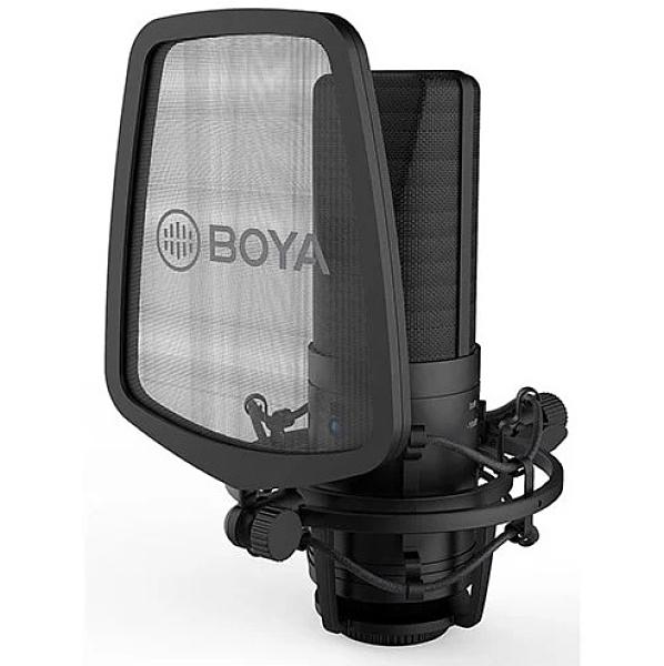 博雅 BY-M1000 大振膜電容麥克風【公司貨】錄影棚大型麥克風話筒