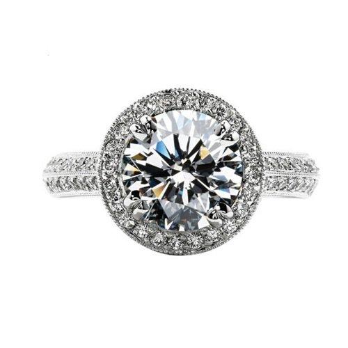 【米蘭精品】925純銀戒指鑲鑽銀飾-圓型經典生日情人節禮物女配件2款73ae20