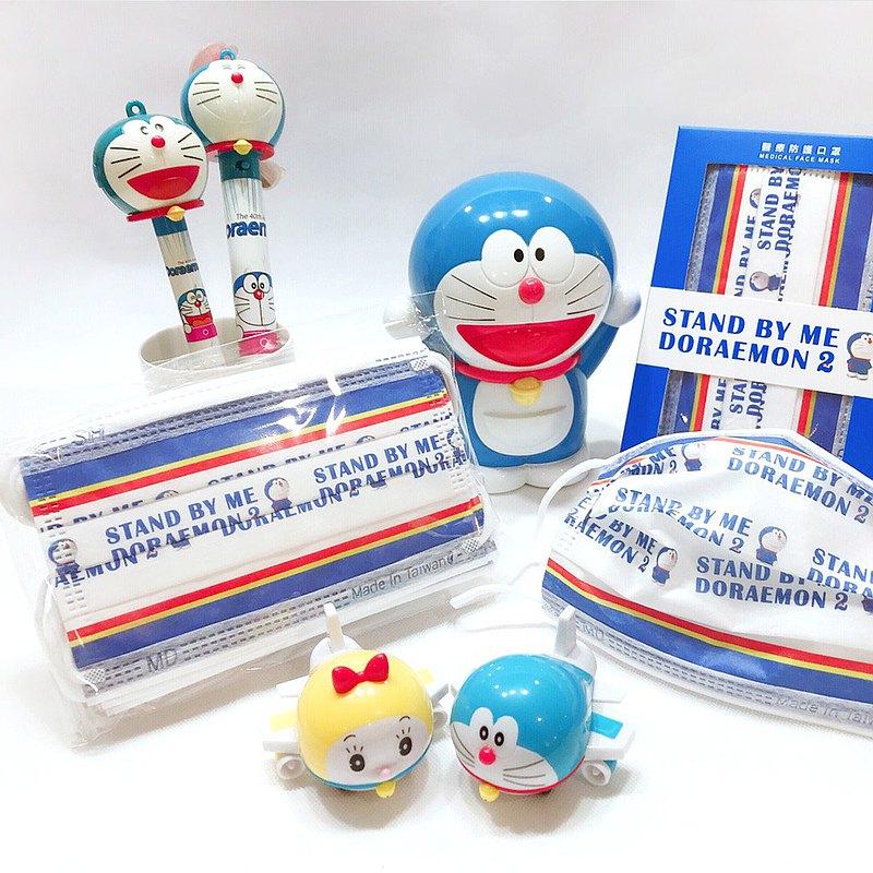 【上好生醫】Doraemon_文字系列E_親子款口罩/10入盒裝/ MD雙鋼印