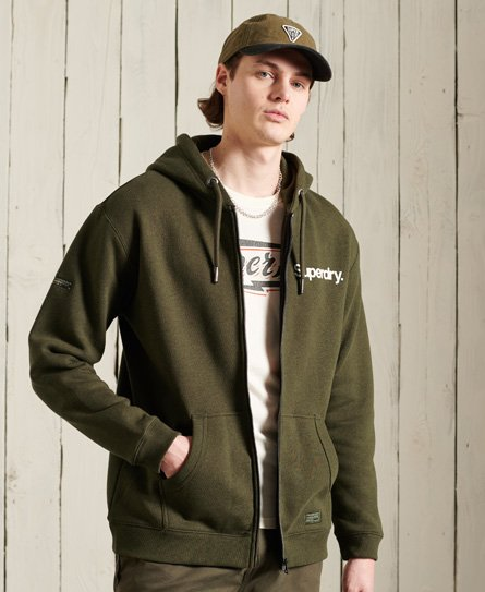 Superdry Military Graphic Zip Hoodie