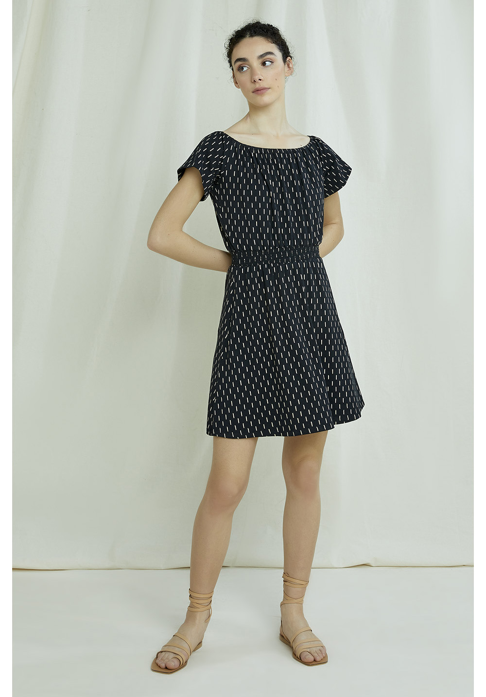 Ingrid Ikat Print Dress 10