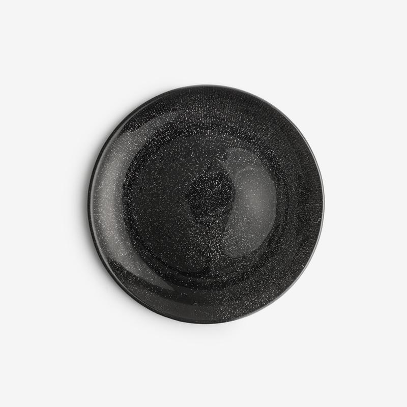 歐式 金濱爍星 21cm 玻璃小圓盤|暗夜黑|單品