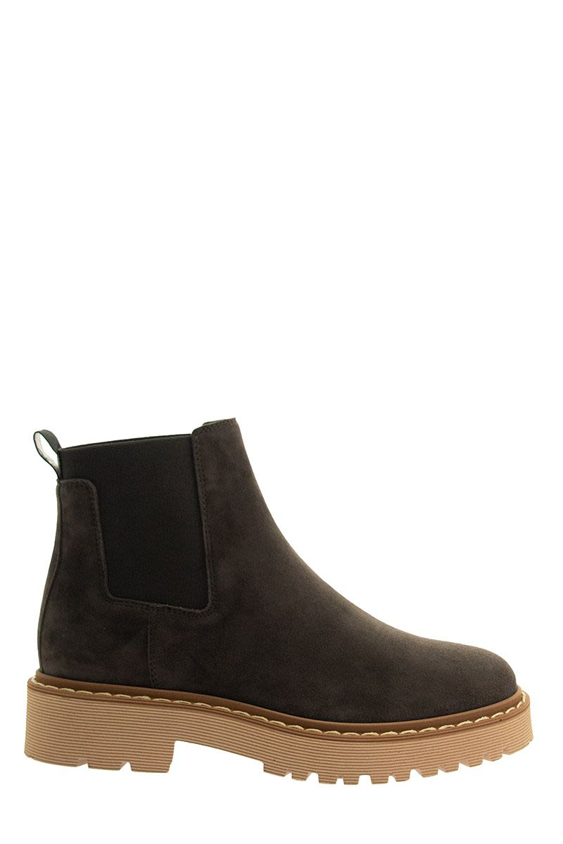 HOGAN H543 Chelsea Ankle Boots Brown