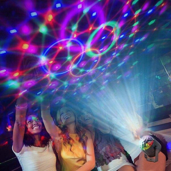 旋轉燈 七彩燈 魔球燈 閃光燈 舞台燈 投影 LED夜燈 聲控 KTV 水紋 酒吧 『無名』 P06124