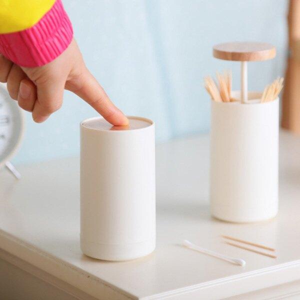 『無名』 手壓式 牙籤桶 牙籤罐 棉籤罐 牙籤 棉花棒 造型收納罐 北歐風 裝飾 居家小物 創意 N12114