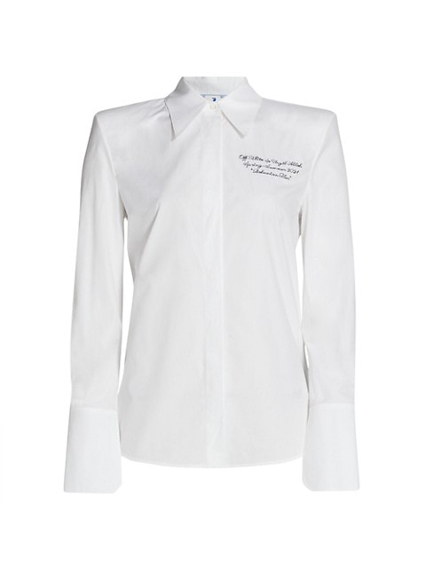 Popeline Shoulder Pads Shirt