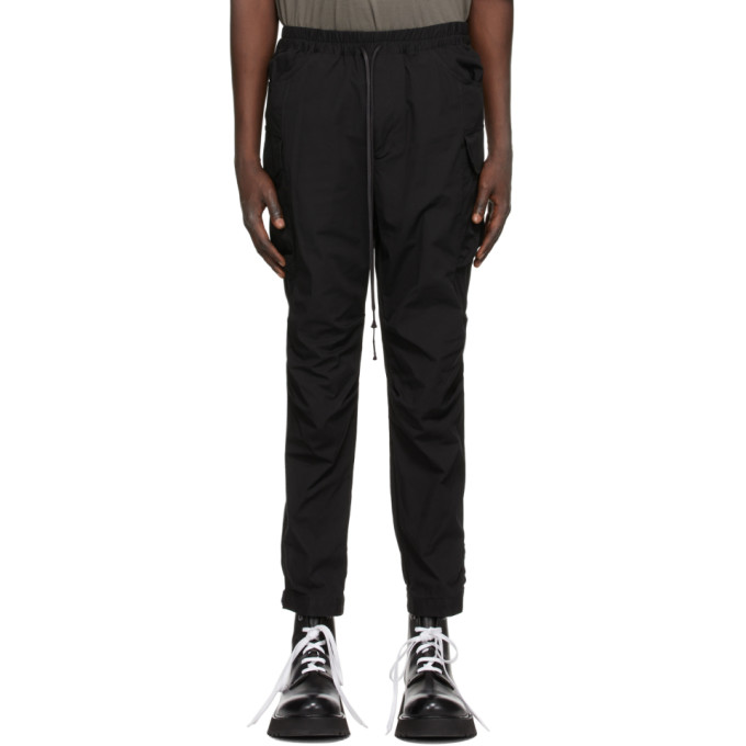 The Viridi-anne 黑色 Pull-Up 工装裤