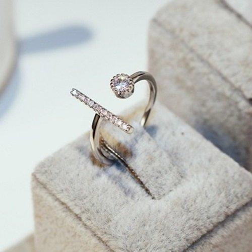 【米蘭精品】925純銀戒指鑲鑽銀飾(奢華時尚大方生日情人節禮物女飾品73by52)
