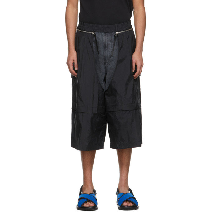 JERIH 黑色可拆卸式短裤