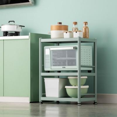 【HappyLife】綠色烤漆不鏽鋼三層電器架 55×38×81cm