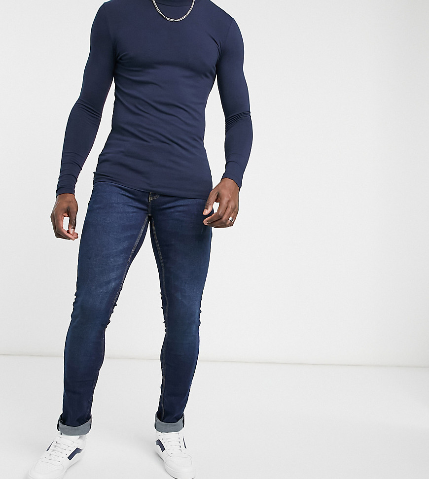French Connection Tall slim fit stretch jeans in dark blue