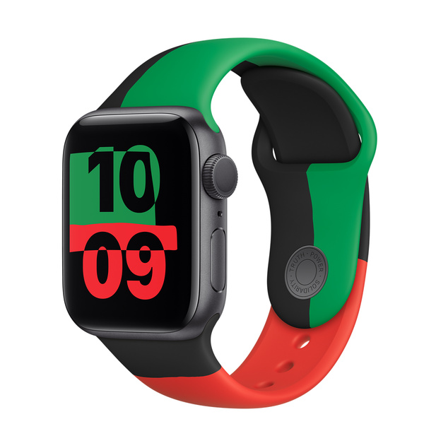 Apple Watch Series 6 (GPS);40 公釐 Black Unity鋁金屬錶殼;Black Unity運動型錶帶 - 標準