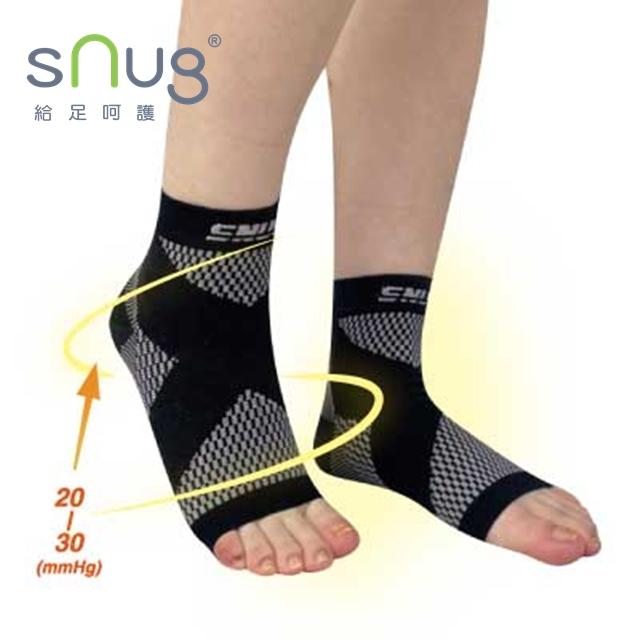運動壓縮護踝襪套-黑色