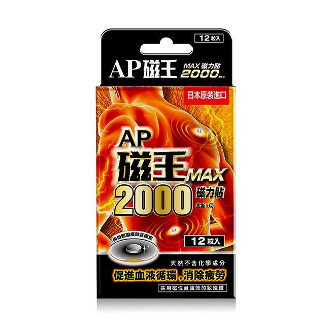 AP磁王MAX2000磁力貼12粒