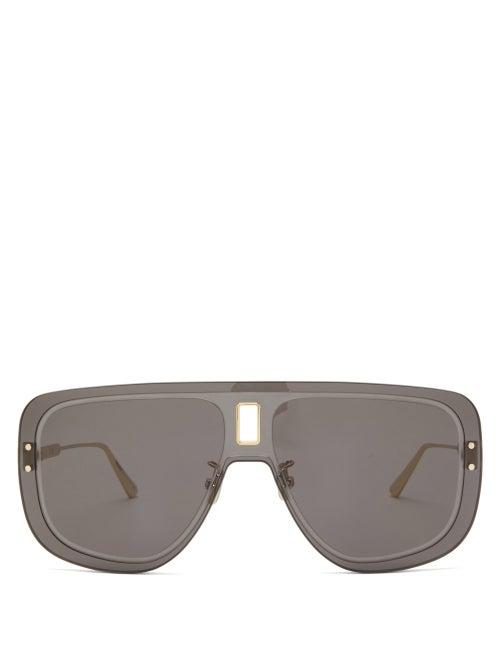 Dior - Ultradior Aviator Acetate Sunglasses - Womens - Grey