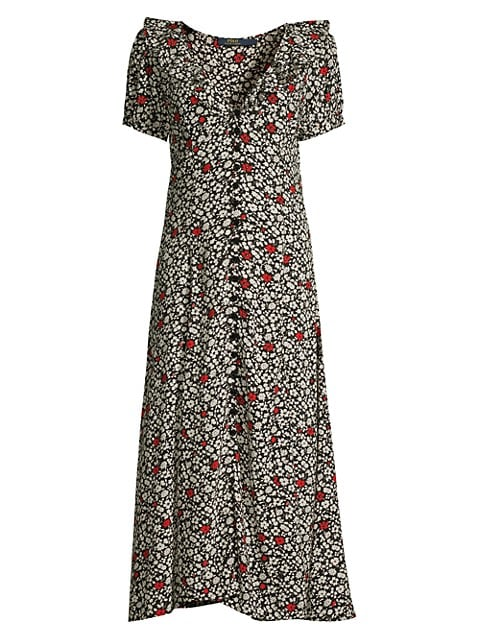 Poppy Field Short-Sleeve Dress