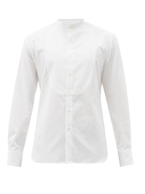 Sébline - Bunny Tuxedo-bib Cotton-poplin Shirt - Mens - White