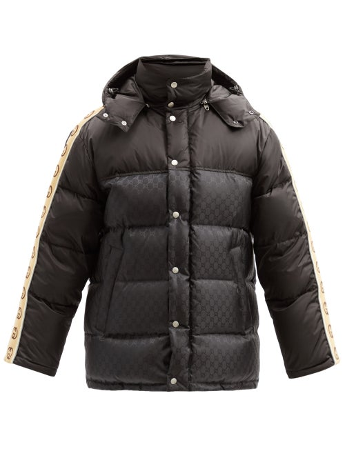 Gucci - GG-trim Quilted Down Coat - Mens - Black