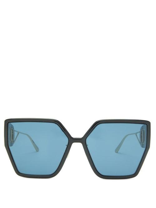 Dior - 30montaigne Butterfly Acetate Sunglasses - Womens - Black Blue