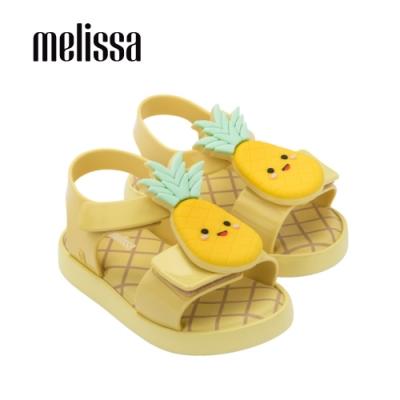 Melissa 可愛水果系列 鳳梨造型涼鞋 寶寶款 - 黃
