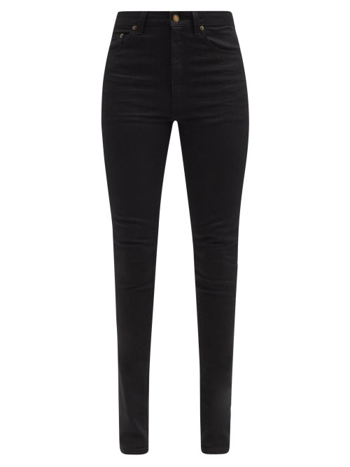Saint Laurent - High-rise Skinny-leg Jeans - Womens - Black