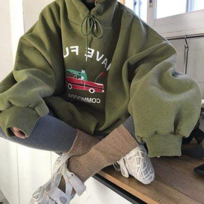衛衣 秋冬韓版ins潮大碼加肥300斤連帽衛衣女大碼胖mm遮肉寬松加絨外套