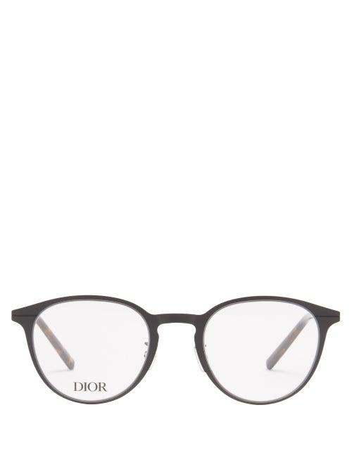 Dior - Dioressential Round Metal Glasses - Mens - Black