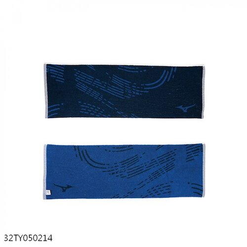 Mizuno Towel [32TY050214] 毛巾 運動 提花 舒適 加厚 打球 訓練 35x100 線波 深藍