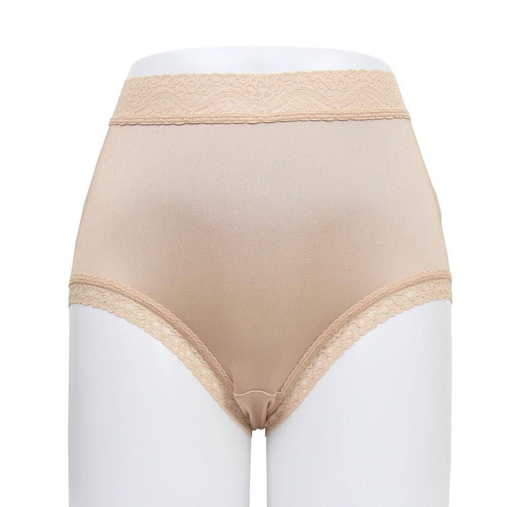 闕蘭絹 親膚包臀高腰30針100%蠶絲內褲 - SKN-2 (膚)