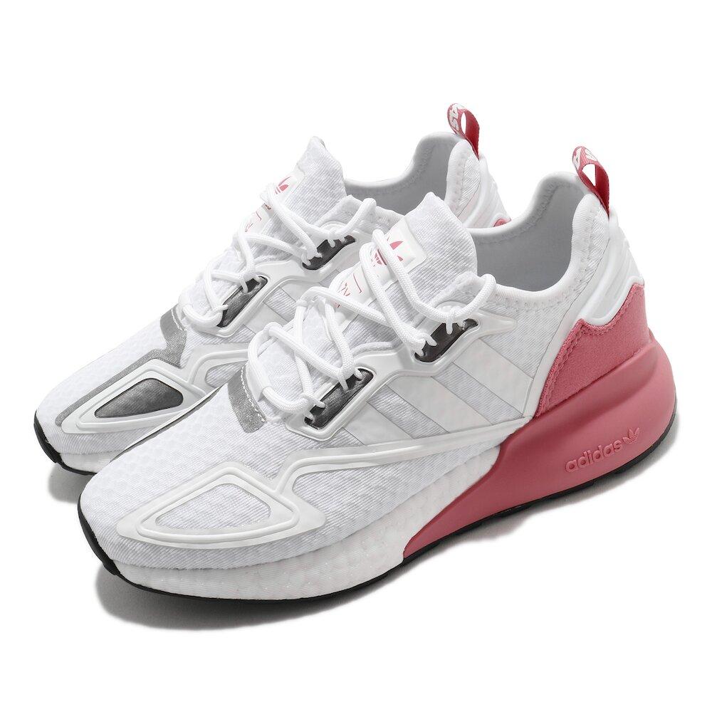 ADIDAS 休閒鞋 ZX 2K Boost 女鞋 愛迪達 基本款 球鞋穿搭 緩震 舒適 白 粉 [G58090]