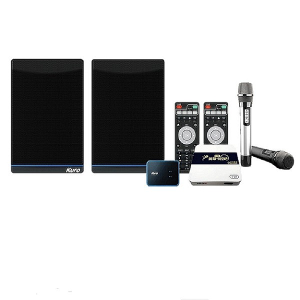 Kuro酷樂 專業KTV版 CSM-202T 無線美聲雙麥克風+ K歌木質喇叭 附贈酷樂音效盒 公司貨享保固《名展影音》