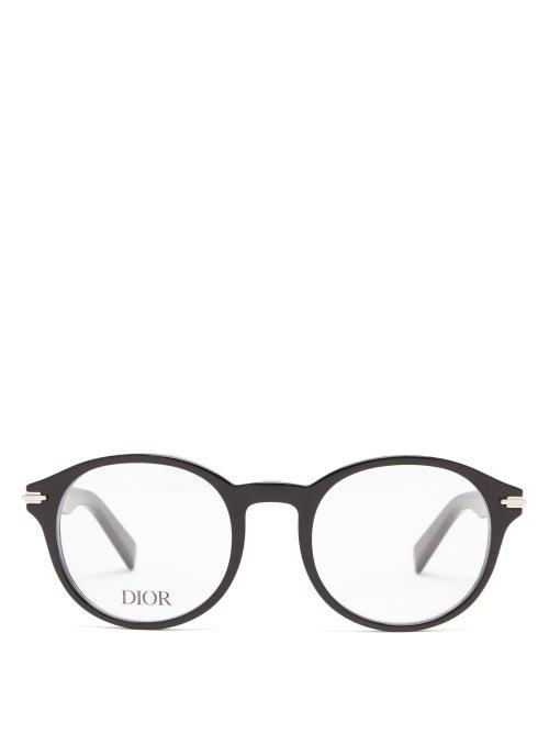 Dior - Diorblacksuit Round Acetate Glasses - Mens - Black