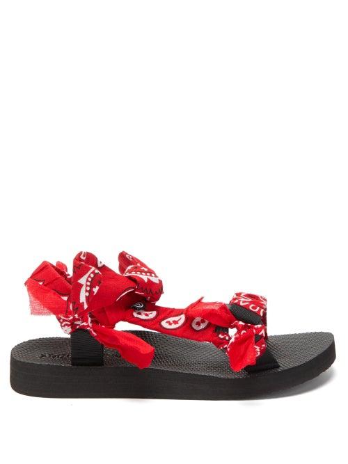 Arizona Love - Trekky Choux Bandana-trimmed Sandals - Womens - Red
