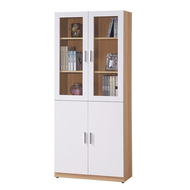 【HB482-03】艾美北歐2.7尺四門書櫃