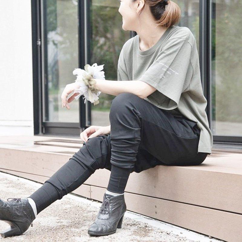 Rakuchin x美麗眼睛的褲子|黑色